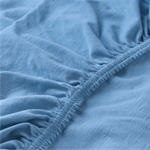 Bed Sheet (Single): Fitted - Light Blue