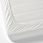 Bed Sheet (Single): Fitted - White