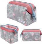 Handheld Washbag - Pink Flamingos