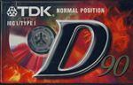Blank Cassette - 90 Min TDK D90 (1 Pack)